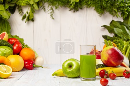 Photo for Healthy vegetable juices for refreshment and as an antioxidant - Royalty Free Image
