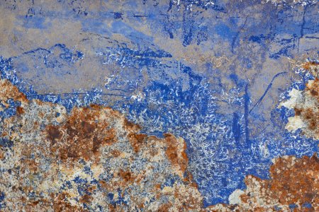 Abstraction from rusty on metal boat