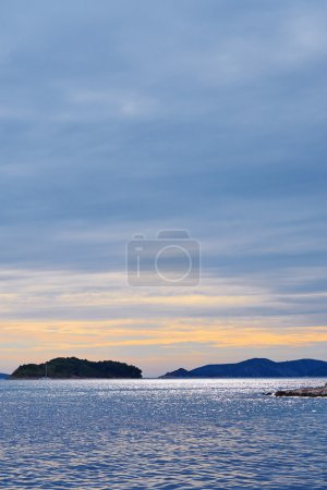 Beautiful sunset in Croatia