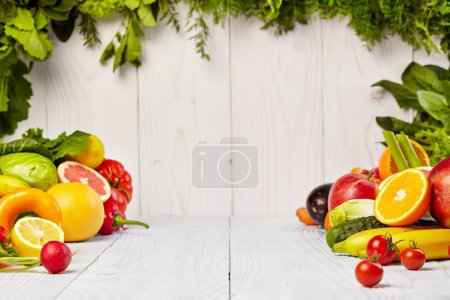Fruits and vegetables borders