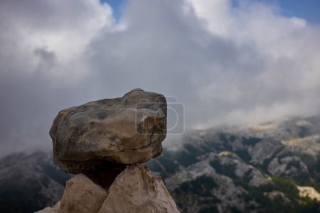 stones on background of mountains
