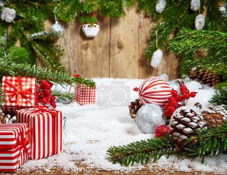 Christmas decoration with pine tree