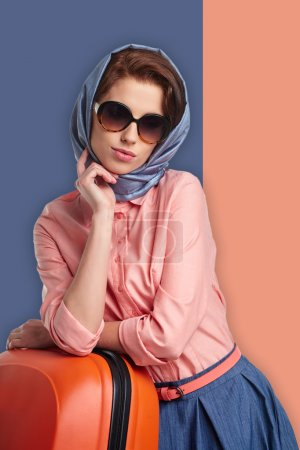 Fashion woman in scarf