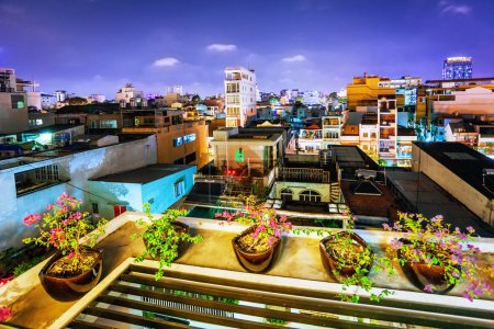 Night view of one of the oldest neighborhoods in Ho Chi Minh Cit
