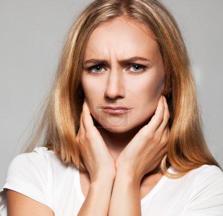Photo for Sad female. Upset woman. Problems - Royalty Free Image