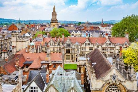 Photo pour Paysage urbain d'Oxford. Oxfordshire, Angleterre, Royaume-Uni - image libre de droit