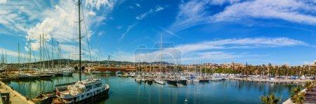 Parking sailing ships in Marina Palma, Majorca