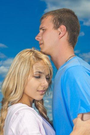 Enamoured couple