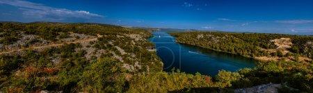 Panorama of Krka National Park is one of Croatian