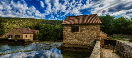 Stone old house of Krka National Park is one of Croatian
