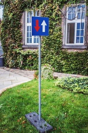 Travel direction in Wawel, Krakow, Poland