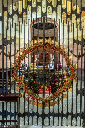 Photo for Metal gates in Chapel of St. John Sarkander, Olomouc, Czech Republic - Royalty Free Image