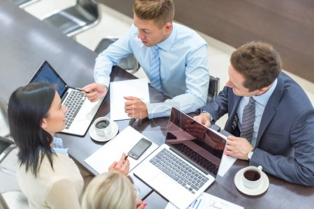 Photo for Young business people  in office - Royalty Free Image