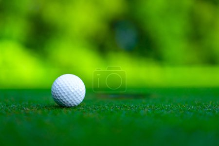 Golf ball on a lawn