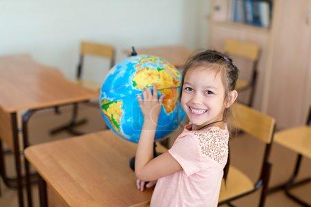 Smiling pupil at school