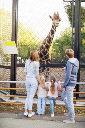 Family weekend in zoo