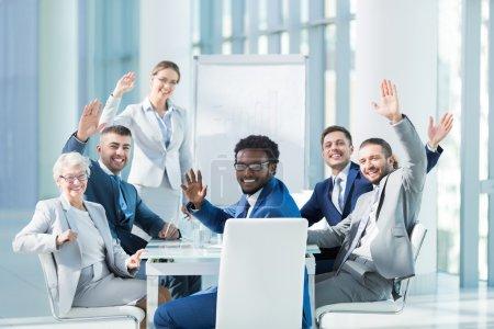 Photo pour Les gens d'affaires à la présentation au bureau - image libre de droit