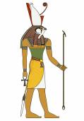 Egyptian ancient symbol isolated figure of ancient egypt deities