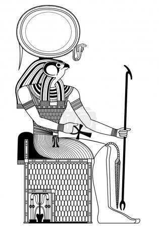 Horus ,isolated figure of ancient egypt god