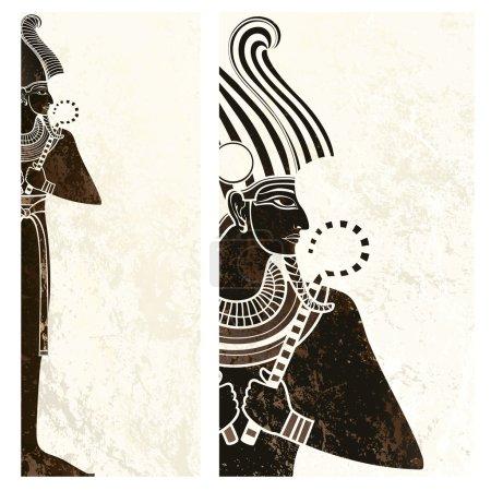 Vector banner ,osiris ancient egypt flyer...