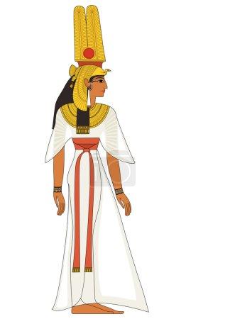 Nefertiti , egyptian ancient symbol, isolated figure of ancient egypt deities