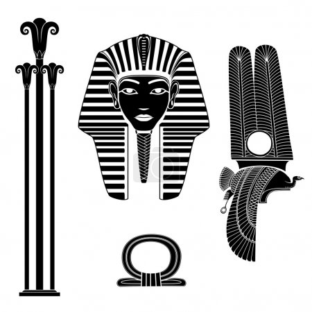 Set of egyptian ancient symbol