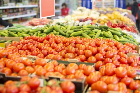 Photo for Close up of fresh vegetables at the grocery market - Royalty Free Image