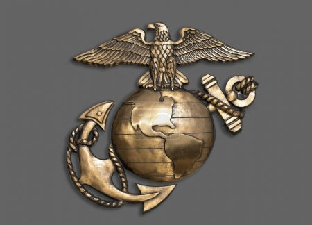 Marine Eagle ,Globe and Anchor.