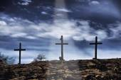 Old Wooden Crosses.
