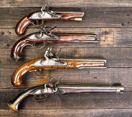 I8th Century flintlock pistols....