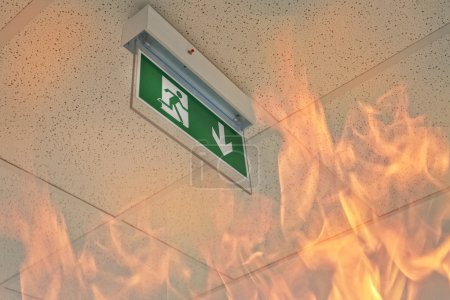 Emergency exit - fire in the office