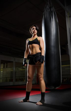 Kickboxer young woman