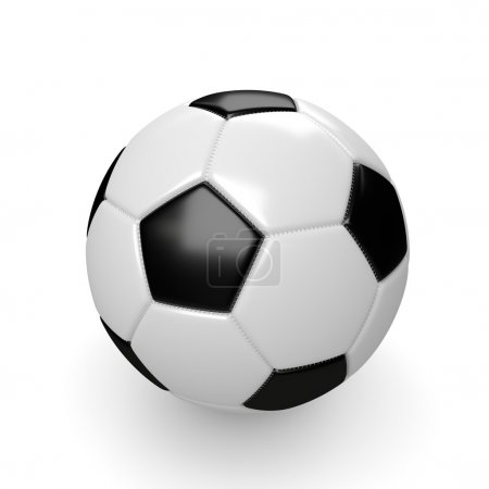 3d rendered soccer ball isolated on white