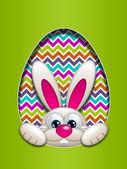 Velikonoční zajíček skryté v duté vejce