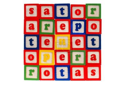 Sator square made from blocks