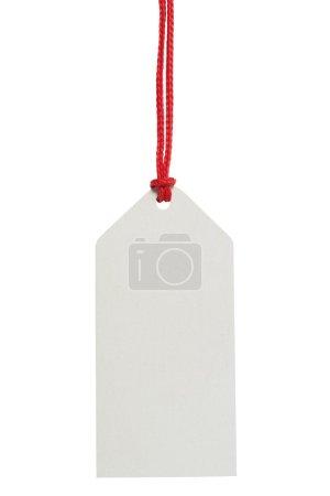 Photo pour Étiquette de prix vierge sur fond blanc - image libre de droit