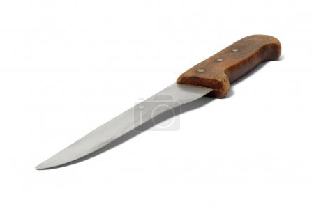 Photo for Big chef knife on white background - Royalty Free Image