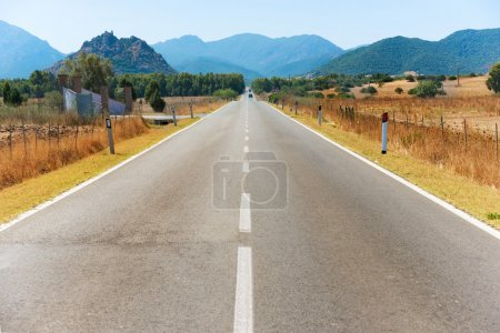 Photo for Highway road. Travel landscape with mountains on horizon - Royalty Free Image