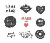 Handmade crafts workshop made with love icons