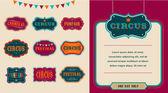 Vintage Hipster Circus labels set