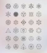 Sacred geometry Alchemy religion philosophy spirituality hipster symbols and elements