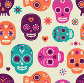 skull pattern Mexican day of the dead