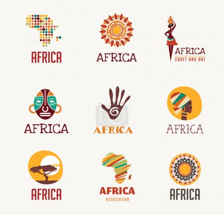 Africa, Safari icons and element set