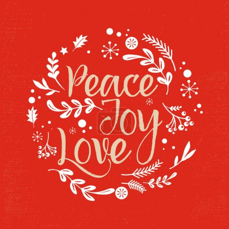 Christmas Background with Typography, Lettering