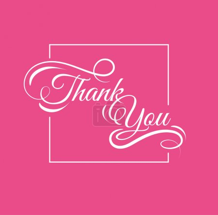 Illustration for Thank you, poster and card - Royalty Free Image