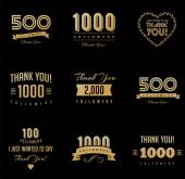 Thank you followers badges stickers and labels
