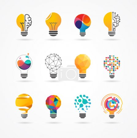 Illustration for Light bulb - idea, creative, technology icons and elements - Royalty Free Image