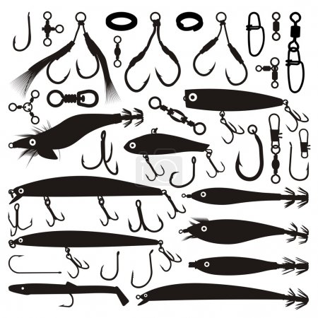 Fishing lure silhouettes
