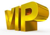 VIP zlatá - 3d písmena izolované na bílém