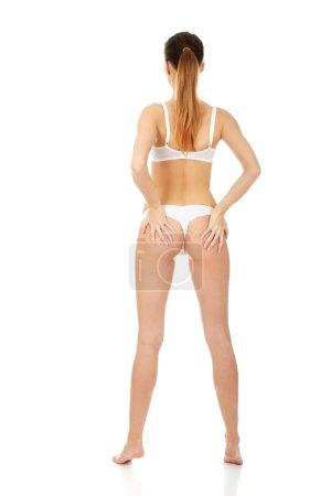 Seductive woman in lingerie.